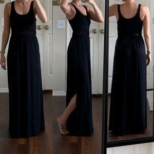 Ann Taylor LOFT black sleeveless maxi dress